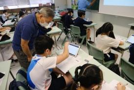 學生與香港中文大學教授分享學習所得