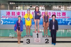 參加東區學界游泳比賽